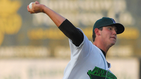 Josh Hodges tossed five innings to get a no decision for the Jammers.