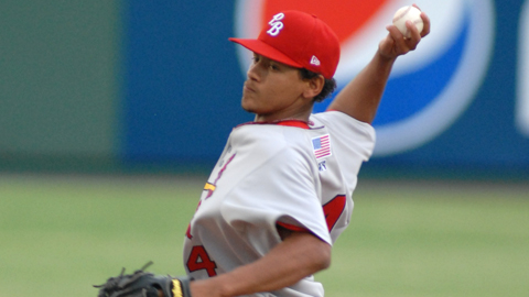 Carlos Martinez was 3-2 over eight Midwest League games.