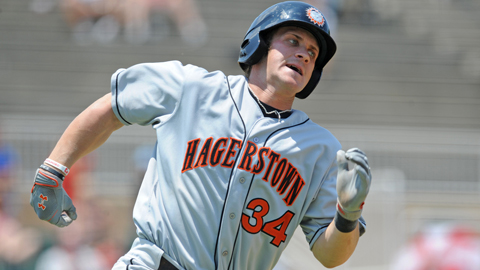 Bryce Harper had 32 extra-base hits for the Class A Hagerstown Suns.