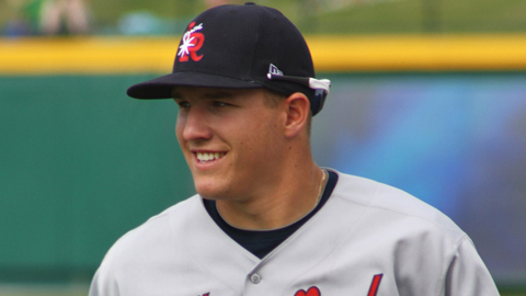 Mike Trout was hitting .324 with 28 steals and 69 runs scored at Double-A Arkansas.