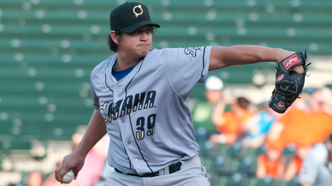 Luis Mendoza has posted a 2.06 ERA in nine starts for the Storm Chasers.