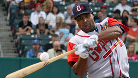 Stefan Gartrell smacked 18 longballs in the first half, all but one for Gwinnett.