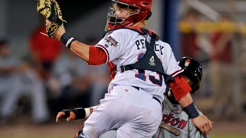 Brian Peacock tied Monday's game with an eighth-inning double.