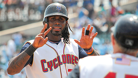 Jose Reyes went 1-for-3 with a double and a run in his rehab game.