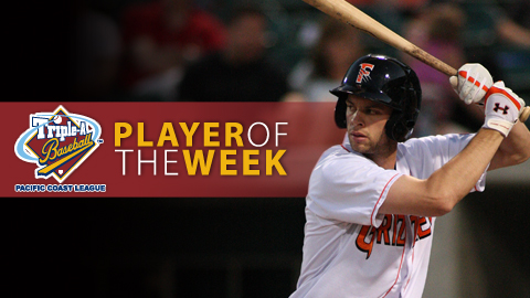 Brandon Belt was named Pacific Coast League Player of the Week on Monday.