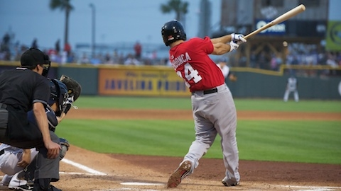 Tommy Mendonca ranks third in the Texas League with 71 RBIs.