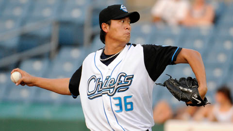 Chien-Ming Wang allowed five runs in five innings on Sunday.