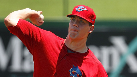 Trevor May leads the Florida State League with 178 strikeouts in 23 starts.