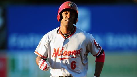 Altoona's Starling Marte hit .556 with 10 runs scored this week.
