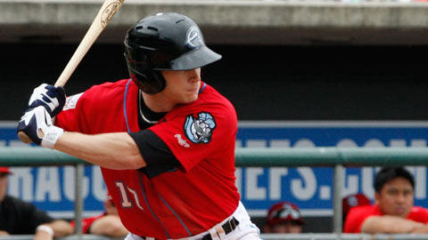 Matt Antonelli hit one of four Chiefs home runs in Tuesday's rout of the Braves.