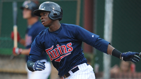 Miguel Sano leads the Appy League in home runs and total bases.