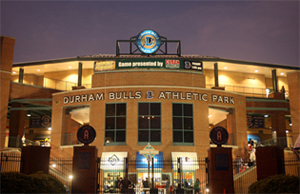 Front of Durham Bulls Athletic Park