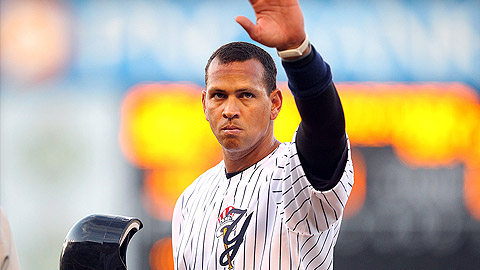 Alex Rodriguez had an RBI single and drew a pair of walks Wednesday.