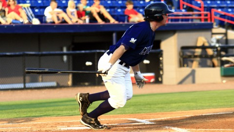 Manatees first baseman Hunter Morris is one home run away from tying the single-season franchise record of 18.