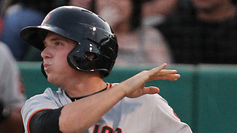 Gary Brown, who leads the Cal League with 170 hits, is 15-for-27 during his hitting streak.