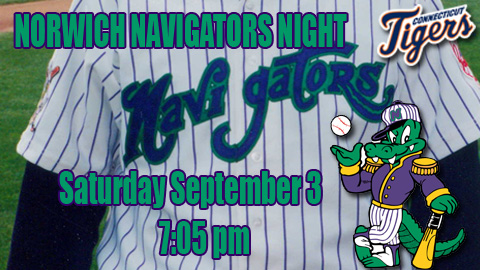 Norwich Navigators Night Saturday | Connecticut Tigers News