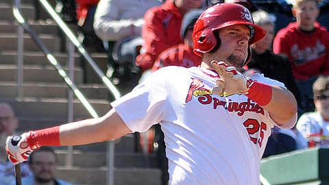Springfield's Matt Adams leads the Texas League with 94 RBIs.
