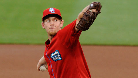 Stephen Strasburg hurled seven strikeouts through five-plus innings Saturday.