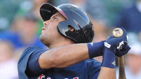 Mauro Gomez is hitting .438 with five homers vs. Norfolk this season.