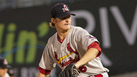 Shelby Miller went 11-6 with a 2.77 ERA in 25 starts across two levels this season.