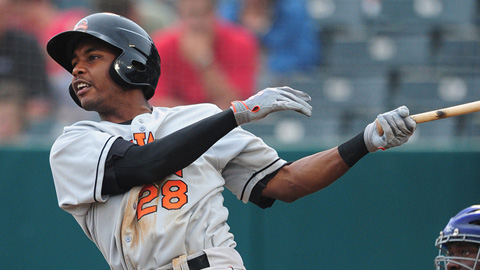 LJ Hoes stands as the fifth-ranked prospect in the Orioles system.