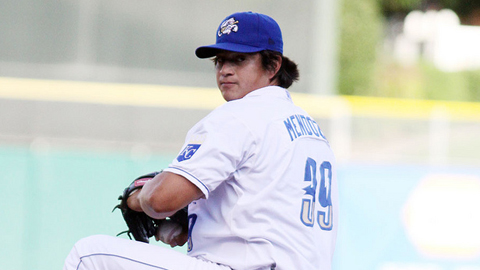 Luis Mendoza went 12-5 with a 2.18 ERA in 33 games for the Storm Chasers.