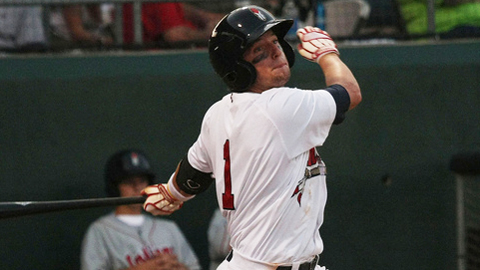 Tyler Holt is 7-for-13 in the first three games of the Carolina League playoffs.