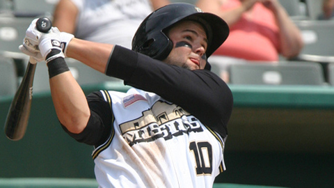 Jaff Decker has seven RBIs in five playoff games for San Antonio.
