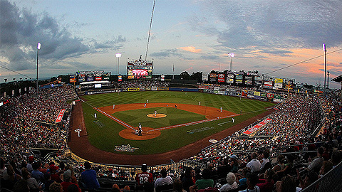 Lehigh Valley's Coca-Cola Park is about 75 miles south of PNC Field.