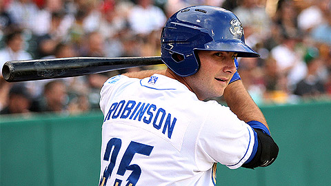Clint Robinson led the Kansas City system with 100 RBIs at Triple-A.