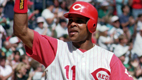 Shortstop Barry Larkin played for the Cincinnati Reds for 19 seasons.