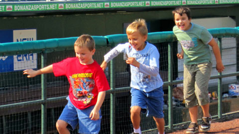 Kids and adults alike will be able to run and play catch on the field during Fun Fest.