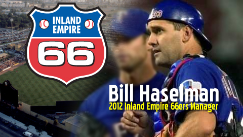Former Rangers and Red Sox catcher Bill Haselman will manage the 66ers in 2012