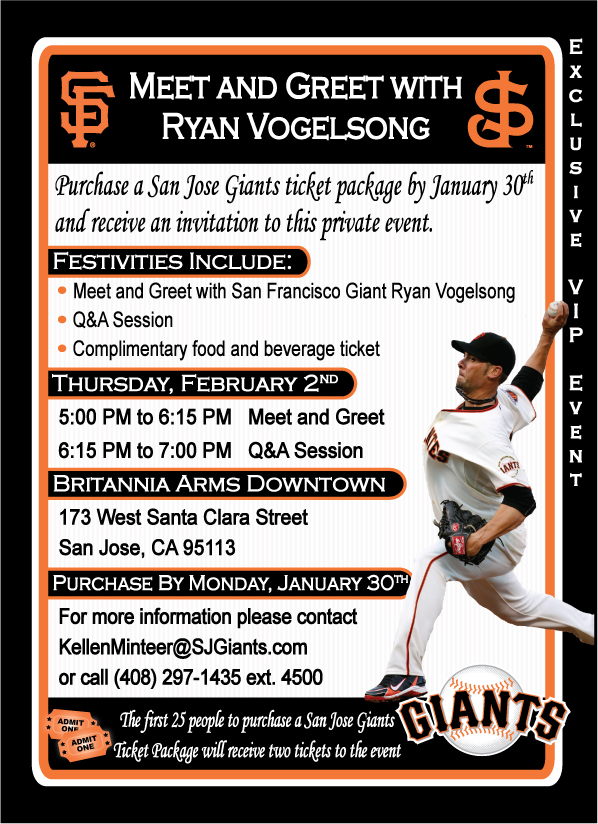 Meet and greet with ryan vogelsong san jose giants tickets m4hsunfo