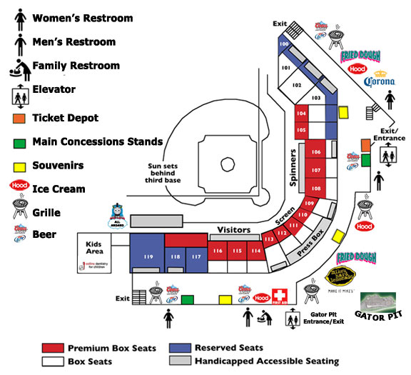 Seating Chart Lowell Spinners Lelacheur Park