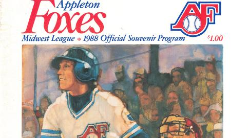 Part of the cover of the 1988 program for the Appleton Foxes. Paul Birling did the artwork.
