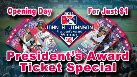 The Smokies were the 2011 recipient of the MiLB John H. Johnson President's Award