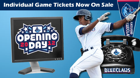 Fans can now buy individual tickets to any BlueClaws game in 2012.