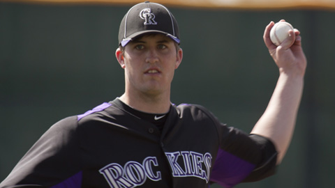 Drew Pomeranz is expected to join the Rockies' rotation on April 15.