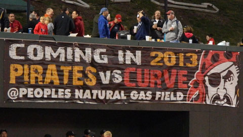 The Pirates will invade Peoples Natural Gas Field in April 2013