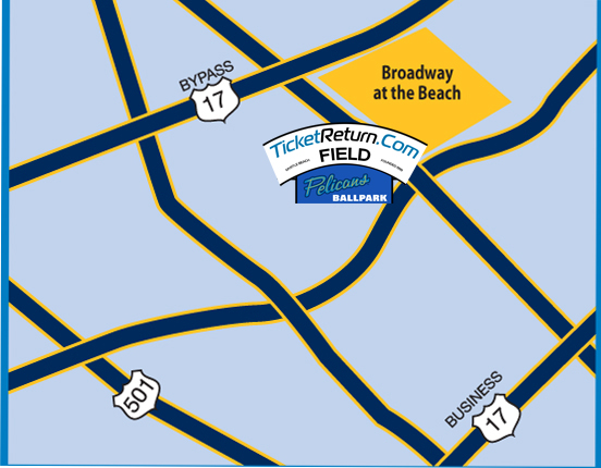 Directions And Parking Myrtle Beach Pelicans