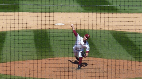 Chad Pierce in action during the Timber Rattlers win over the Peoria Chiefs on April 14, 2012.