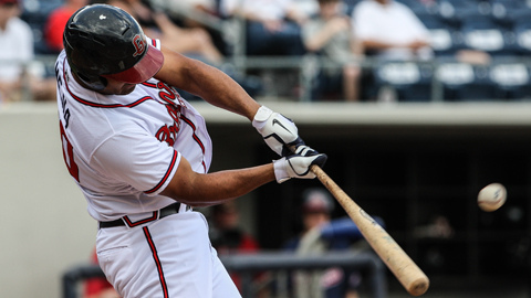 Ernesto Mejia went 2-for-4 with an RBI double for the G-Braves on Sunday. (Karl Moore)