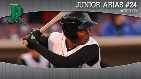 Junior Arias hit a three-run home run Wednesday.