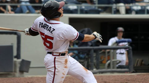 Jordan Parraz went 3-for-5 with four RBI for the G-Braves. (Daniel Hamby)