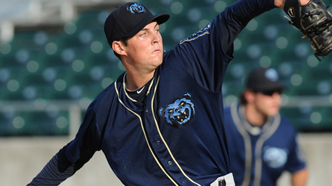 Trevor Bauer leads the Minors in wins and the Southern League in strikeouts.