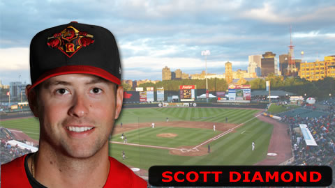 Scott Diamond tossed seven innings Sunday.