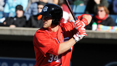 Bryce Harper hit the first Triple-A homer of his career Sunday afternoon.