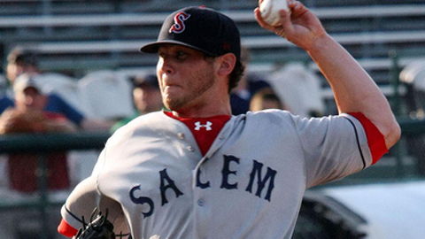 Drake Britton faced three over the minimum for Salem on Wednesday.