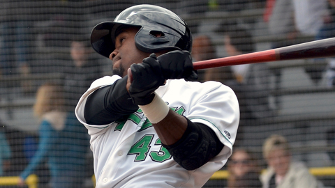 Jabari Blash has four homers and nine RBIs in his last two games.
